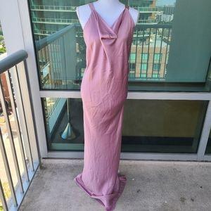 Ranjana Khan Pink Silk Evening Dress 6